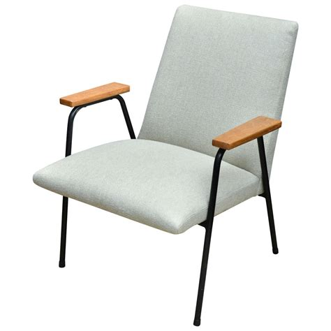 metal armchairs metal framed armchair with wooden armrests for sale at 1stdibs