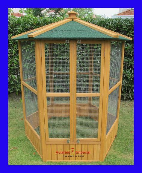 heat l for bird aviary aviaries imperial large wooden hexagonal bird aviary cage
