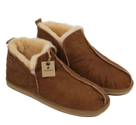 boot style slippers shepherd anton s boot style antique leather sheepskin