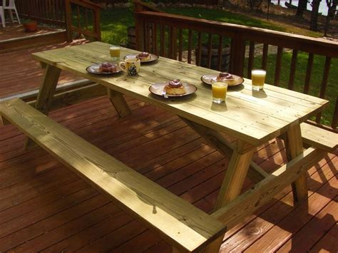build your own picnic table free woodworking plans build your own picnic table free