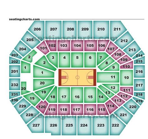 bankers fieldhouse seating chart with rows indiana pacers seating chart pacersseatingchart
