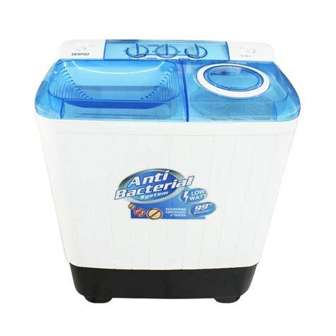 Mesin Cuci Denpoo 2 Tabung jual denpoo dw 888 sg mesin cuci tub 2tabung 7kg putih harga kualitas terjamin