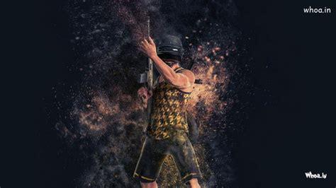 pubg games hd wallpaper  gun  bomb blasting image