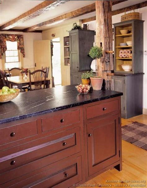 rustic country kitchen ideas rustic kitchen cabinets soapstone and early american on