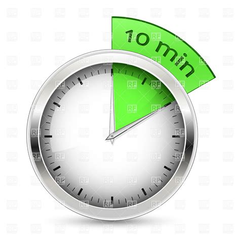 10 minutes timer royalty free vector clip image 6005