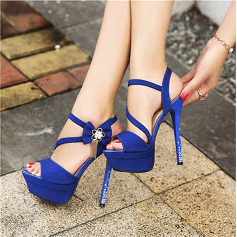 blue high heels for royal blue peep pumps open toe wedding