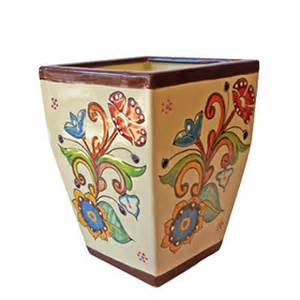 beauty mexican pottery design for garden accessories pots by anthar square pot nevada by