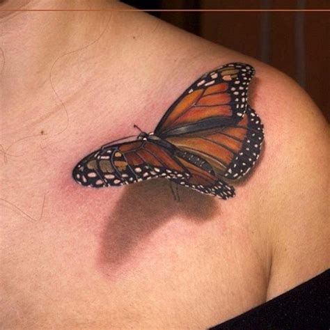 butterfly chest tattoos beautiful 3d butterfly on chest for
