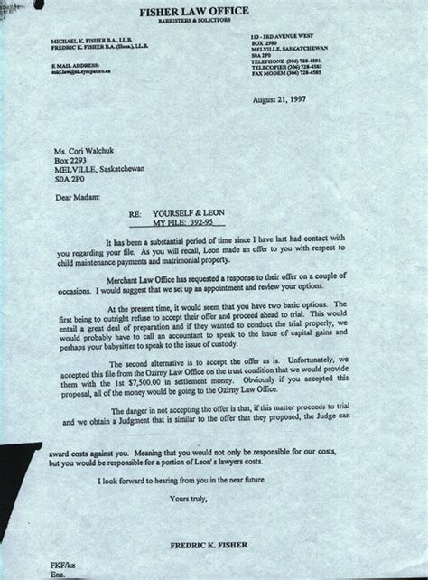 Divorce Letter From Attorney Divorce Lawyer Letter To Divorce Lawyer