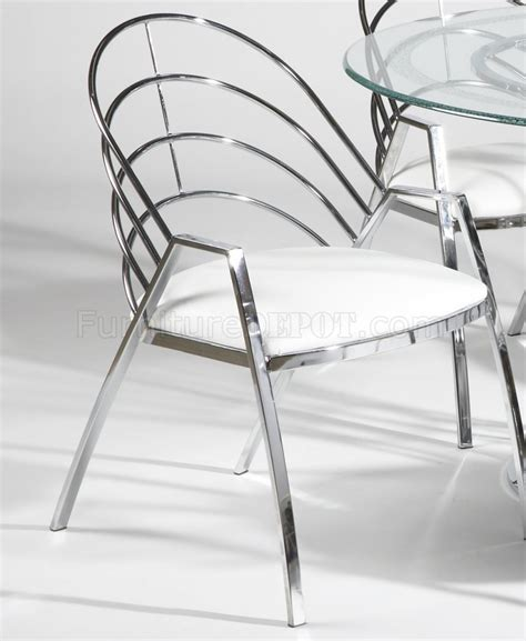 Glass Top Metal Base Modern Dining Table W Frosted Glass Glass Top Chrome Base Modern Dining Table W Optional Chairs