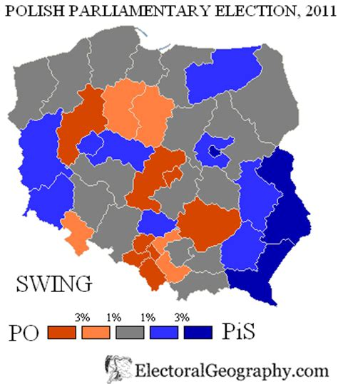swing election poland legislative election 2011 electoral geography 2 0