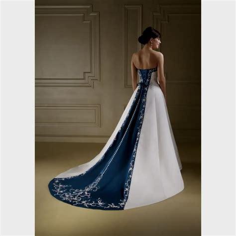 Wedding Dress Navy Blue by White And Navy Blue Wedding Dress Naf Dresses