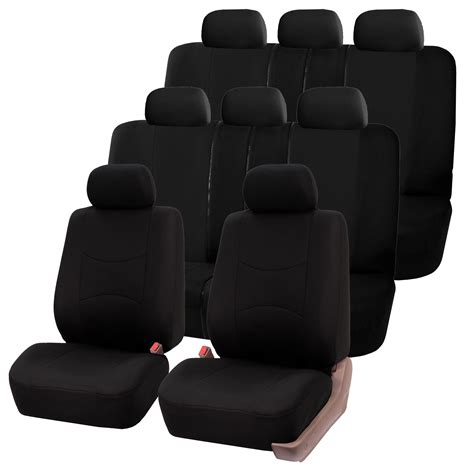 fabric bench seat 3 row fabric auto seat covers air bag split bench