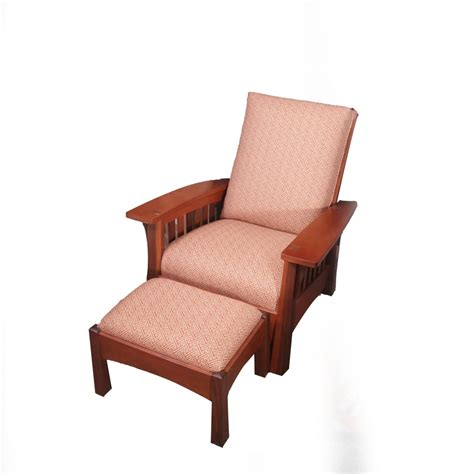stickley morris chair recliner stickley furniture bow arm morris chair with ottoman ebth