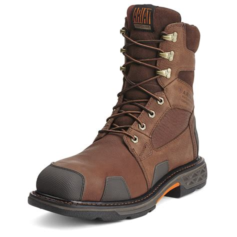 s boots s brown overdrive wide square toe h2o boot by ariat