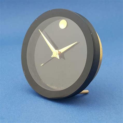 stainless steel mini table travel alarm clock movado 1990 s catawiki