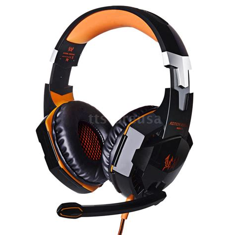 Headphone Pc Gaming g2000 usb stereo surround pc computer gaming headset headphone headband with mic ebay