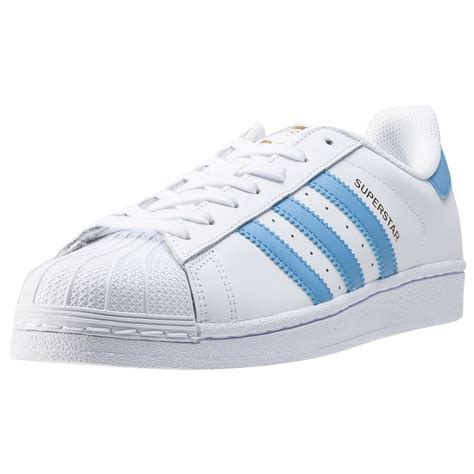 adidas superstar foundation mens trainers  white blue