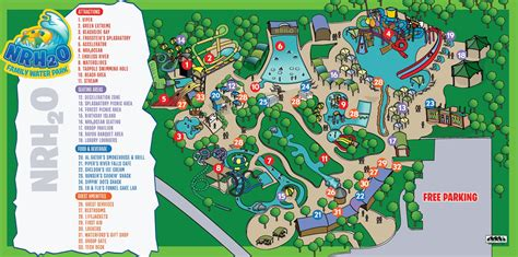 map of us water parks park map nrh o family water park richland tx