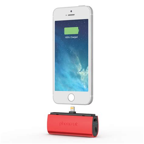 Charger Iphone phonesuit flex xt pocket charger for ios lightning psmicro2c2red