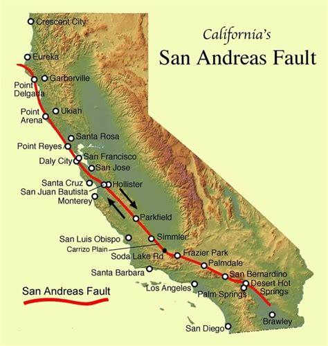 san andreas map earthquakes cbell