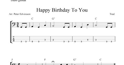 happy birthday guitar mp3 download free bass guitar tab sheet music happy birthday to you