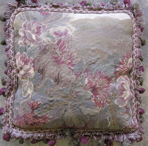 aubusson tapestry pillow by cyberrug
