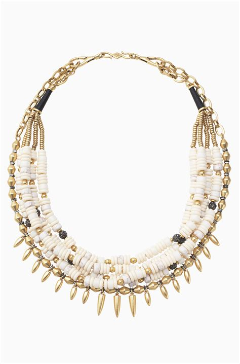 Stella Necklace white statement necklace beaded statement necklace
