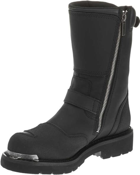 engineer style motorcycle boots harley davidson men s shift engineer zip black 9 inch