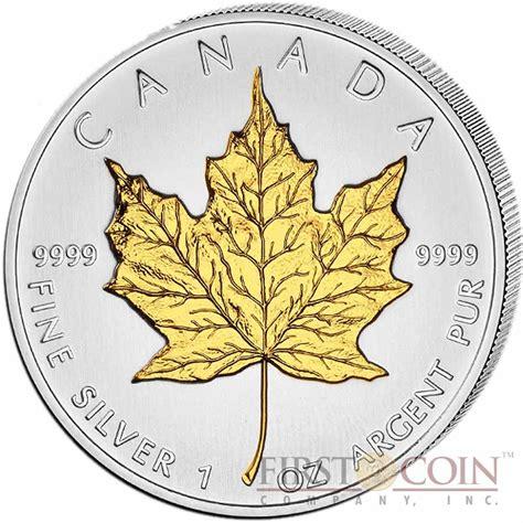 1 Oz Canadian Maple Leaf Silver Coin by Canada Maple Leaf Canadian 5 Gilded 2013 Silver Coin 1 Oz