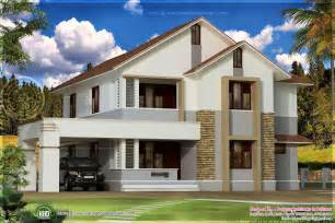 Simple Roof Designs Simple Sloping Roof House Elevation Kerala Home Design