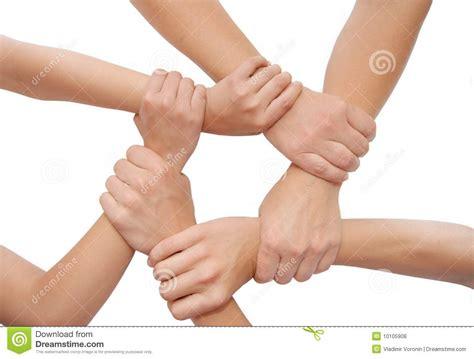 imagenes libres manos manos unidas aisladas en el fondo blanco fotos de archivo