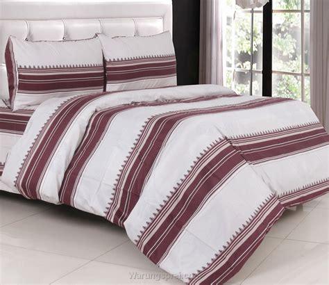Sprei Bed Cover Katun Jepang 1 sprei katun jepang line coklat warungsprei