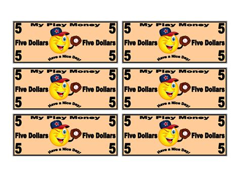 printable fake money for students printable play money for kids activity shelter paper