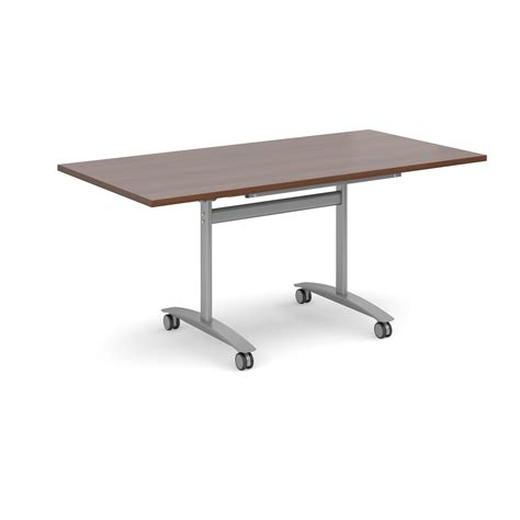 Folding Meeting Tables Fliptop Folding Meeting Table 1600x800mm Silver Walnut Www Eliteofficesuppliesltd Mailroom