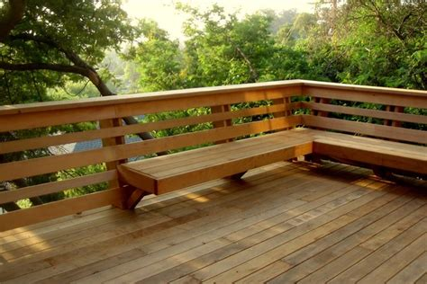 deck railing with bench seating woodworking deck bench railing brackets plans pdf download