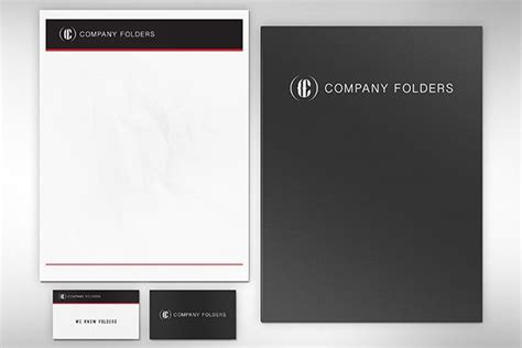 business folder template free psd folder letterhead business card mockup template
