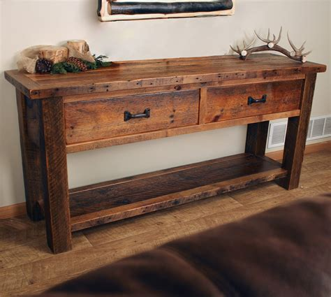 Sofa Table With Drawers Sawmill Timber Frame Sofa Table With Drawers
