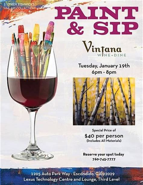 Sip And Paint Flyer Template