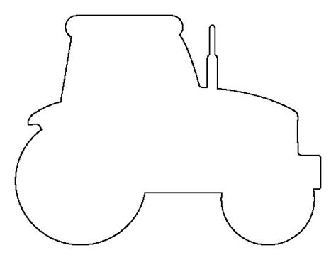 tractor template printable tractor pattern use the printable outline for crafts
