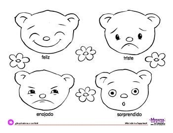 what color is happy coloring page feelings bearswhat color is a happy