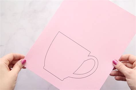 flower mug card template handmade mothers day card the best ideas for