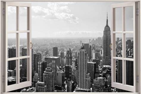 new york wallpaper for walls ireland huge 3d window new york city view wall stickers mural film