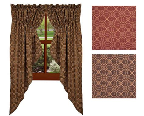 gathered swag curtains marshfield jacquard gathered swag curtains in 2 colors