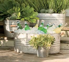 Ballard Design Outlet Stores galvanized metal tubs buckets amp pails as planters