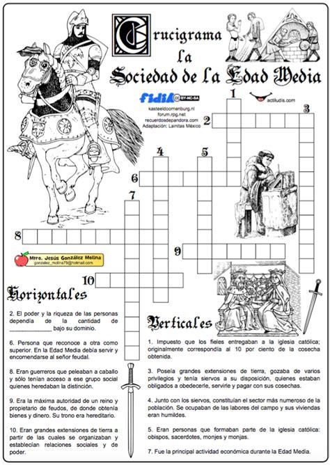 historia argentina y universalroma grecia edad media new style for 01 la sociedad de la edad media crucigramas pinterest