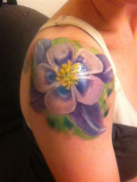 columbine tattoo designs rocky mountain columbine tattoos