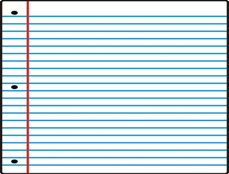 printable lined paper that you can type on notebook paper template clipart best