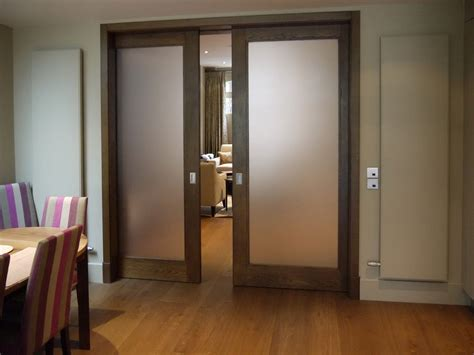 Interior Sliding Pocket Doors Frosted Glass Pocket Doors For Your House Seeur