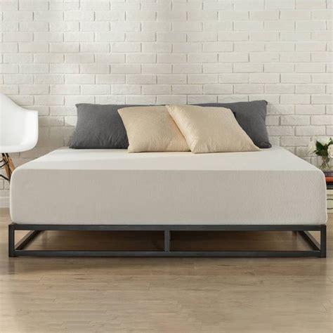 low profile bed frame zinus platforma low profile 6 quot bed frame walmart